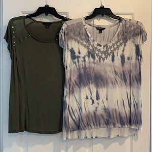 2 rock and republic Light weight shirts